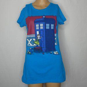Teefury Anna Frozen Doctor Dr Who Tardis T Shirt S